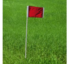 Kwik Goal Official Corner Flags (Set of 4) - Red