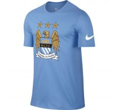 Nike Manchester City Crest Tee - Football Blue