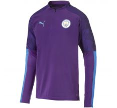 Puma Manchester City 1/4 Zip Top 19/20 - Tillandsia Purple/Team Light Blue