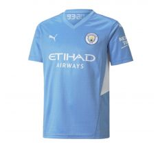 Youth Manchester City FC Home Replica Jersey 21/22