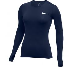Nike Women's Long Sleeve Pro Top - College Navy/White