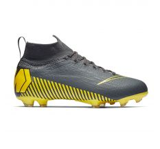 Nike Jr Mercurial Superfly 6 Elite FG - Dark Grey/Black