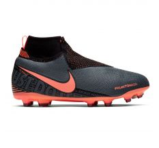 Nike Jr Phantom Vision Elite Dynamic Fit MG - Dark Grey/Bright Mango