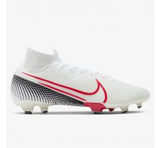 Nike Mercurial Superfly 7 Elite FG - White/Laser Crimson