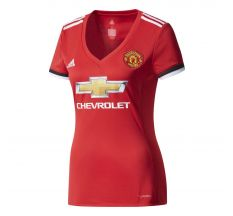 adidas Women's Manchester United Home Jersey 17/18 - Real Red/White/Black