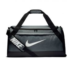 Nike Brasilia Medium Duffel - Flint Grey/black/white