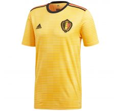 adidas Belgium Away Jersey 2018 - Bold Gold/Black/Vivid Red