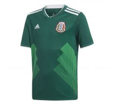 adidas Youth Mexico Home Jersey 2018 - Green/White
