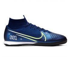 Nike Mercurial Superfly 7 Elite MDS IC - Blue Void/Barely Volt/White