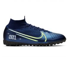 Nike Mercurial Superfly 7 Elite MDS TF - Blue Void/Barely Volt/White