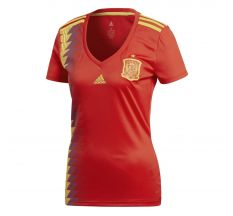 adidas Women's Spain Home Jersey 2018 - Red/Bold Gold