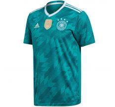 adidas Germany Away Jersey 2018 - Equipment Green/White/Real Teal
