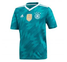 adidas Youth Germany Away Jersey 2018 - Equipment Green/White/Real Teal