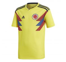 adidas Youth Colombia Home Jersey 2018 - Bright Yellow/Collegiate Navy