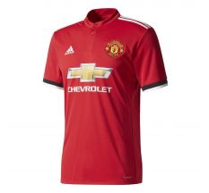 adidas Manchester United Home Jersey 17/18 - Real Red/White/Black