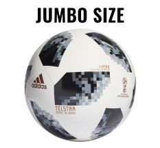 adidas 2018 FIFA World Cup Russia Jumbo Ball - White/Black/Silver Metallic