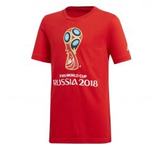 adidas Youth 2018 FIFA World Cup Russia Emblem Tee - Red