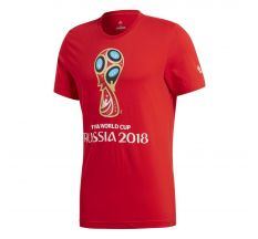 adidas 2018 FIFA World Cup Russia Emblem Tee - Red