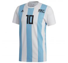 adidas Messi Argentina Tee - White/Clear Blue