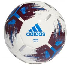 adidas Team Sala Futsal Ball - White/Maroon/Blue