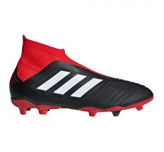 adidas Jr Predator 18+ FG - Core Black/White/Red