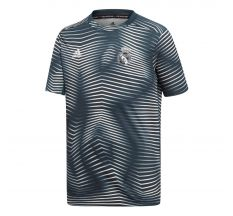 adidas Youth Real Madrid Pre-Match Jersey (Parley for the Oceans) - Tech Onix/Core White
