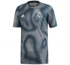 adidas Real Madrid Pre-Match Jersey (Parley for the Oceans) - Tech Onix/Core White
