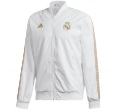 adidas Real Madrid Anthem Jacket 19/20 - White/Dark Football Gold