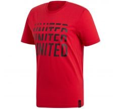 adidas Manchester United DNA Graphic Tee 19/20 - Real Red/Black