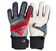 adidas Jr. Predator Pro Goalkeeper Glove - Silver Metal/Black