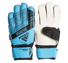 adidas Jr. Predator Top Training Fingersave Goalkeeper Glove - Bright Cyan