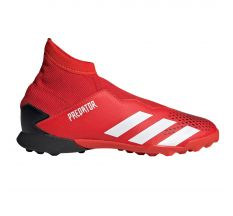 adidas Jr Predator 20.3 Laceless TF - Active Red/White