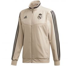 adidas Real Madrid Pre-Match Jacket 19/20 - Raw Gold/Black