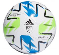 adidas MLS Training Ball - White/Solar Green