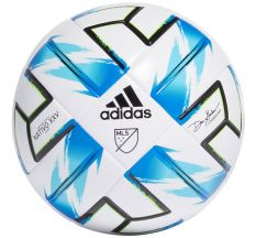 adidas MLS League NFHS Ball - White/Samba Blue
