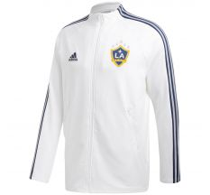 adidas LA Galaxy Anthem Jacket - White/Collegiate Navy