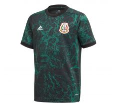 adidas Youth Mexico Pre-Match Jersey 2020 - Collegiate Green/Black