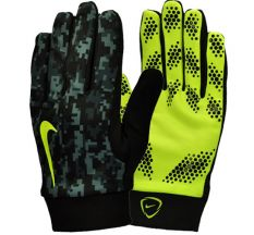 Nike Hyperwarm Field Player Gloves - Black/Volt