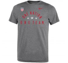 Nike Men's USWNT Dri-Fit Legend 2.0 Tee - Dark Grey Heather