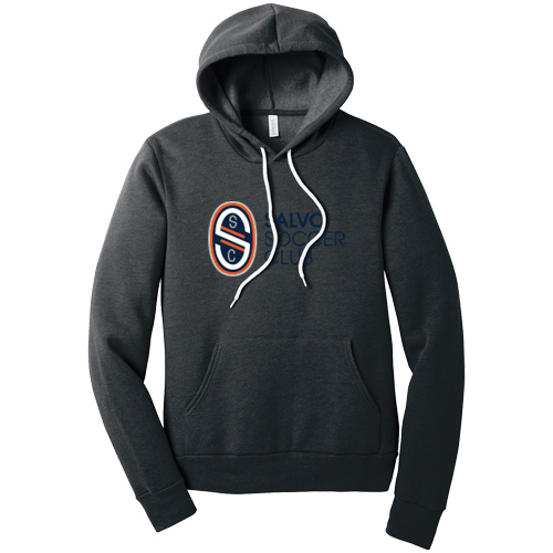Men's Sponge Fleece Pullover Hoodie - Dark Grey Heather