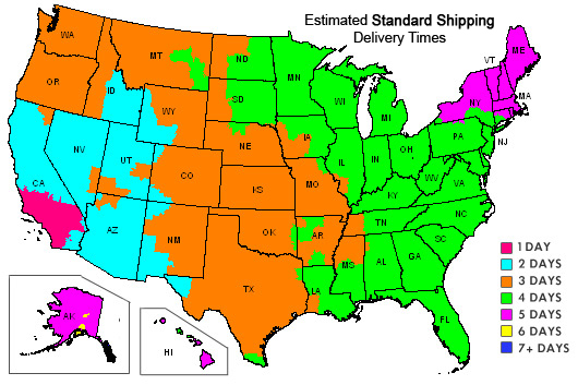 Shipping Delivery Time Map