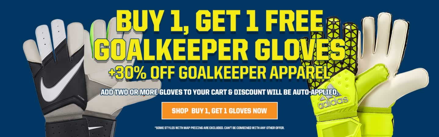 Buy 1, Get 1 Free Goalkeeper Gloves